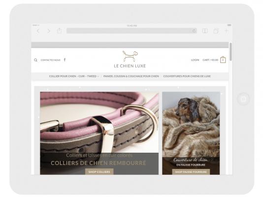Web designer for Le Chien Luxe