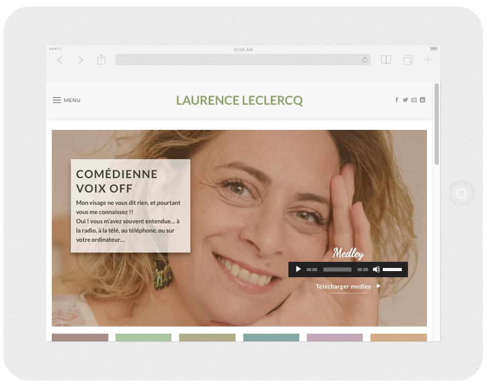 Web Design Comedienne Voix Off